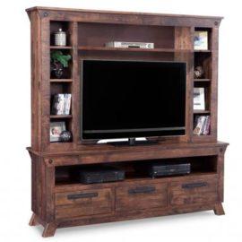 Mennonite HDTV Cabinet with Hutch