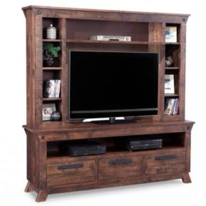 Mennonite HDTV Cabinet with Hutch