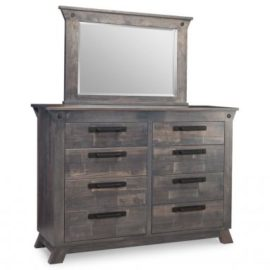 8-Drawer Double Dresser Solid Wood