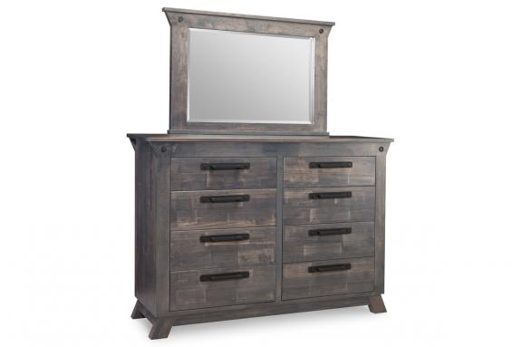 8 Drawer Double Dresser Solid Wood