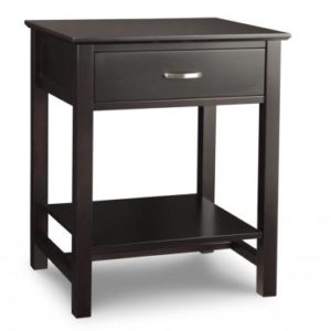 Brooklyn 1-Drawer Open Nightstand