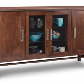 Brooklyn 2-Centre Glass Door 2-Wood Door Sideboard