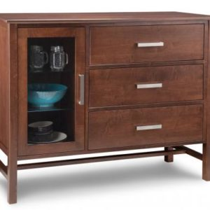 Brooklyn 3-Drawer 1-Glass Door Sideboard