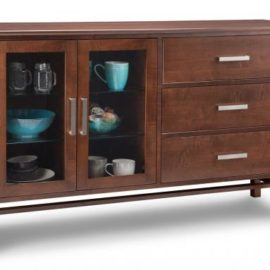Brooklyn 3-Drawer 2-Glass Door Sideboard