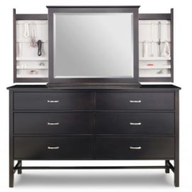 Brooklyn 6-Drawer Long Dresser & Mirror