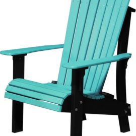 Royal Adirondack Chair - Aruba Blue/Black