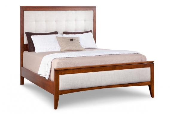 Upholstered Bed with Low Footboard
