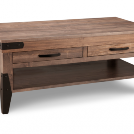 Solid Wood 2-Drawer Coffee Table