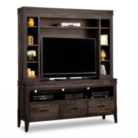 Wormy Maple TV Stand and Hutch