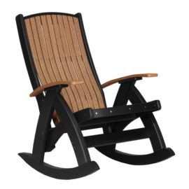 Comfort Rocker - Antique Mahogany & Black