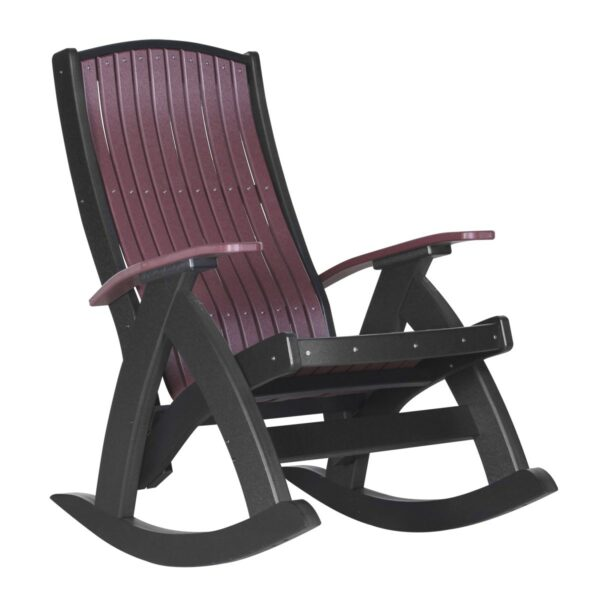 Comfort Rocker - Cherry & Black