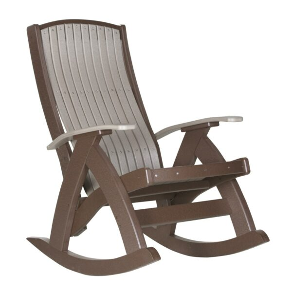 Comfort Rocker - Weatherwood & Brown