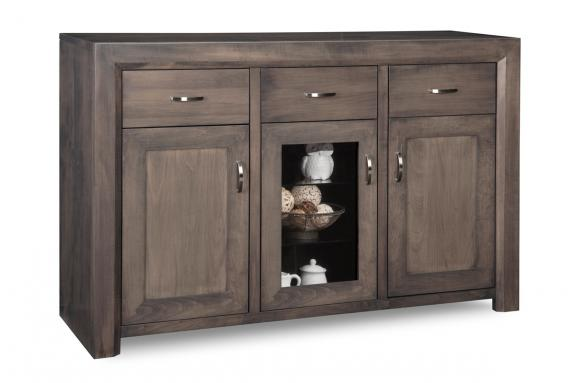 Contempo 3-Drawer 3-Door Sideboard with Centre Glass Door