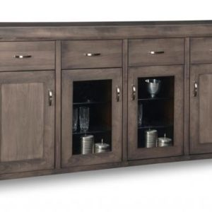 Contempo 4-Drawer 4-Door Sideboard with 2 Centre Glass Doors