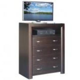Contempo 4-Drawer TV Highboy Chest