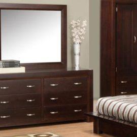 Contempo 6-Drawer Dresser & Mirror