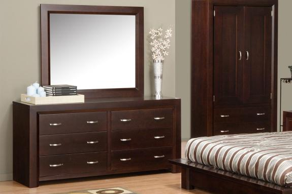 Contempo 6-Drawer Dresser & Mirror