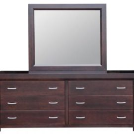 Contempo 6-Drawer Long Dresser & Mirror