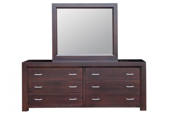 Contempo 6-Drawer Long Dresser | Handstone Bedroom Furniture