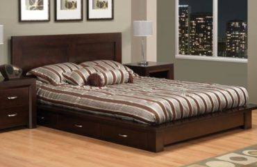Contempo 6-Drawer Platform Storage Bed (Queen Bed shown)