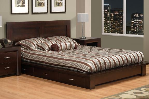Contempo 6-Drawer Platform Storage Bed (Queen Bed shown)