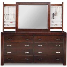 Contempo 8-Drawer Long High Dresser & Jewellery Mirror