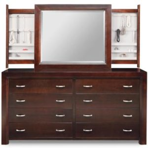 Contempo 8-Drawer Long High Dresser & Jewellery Mirror