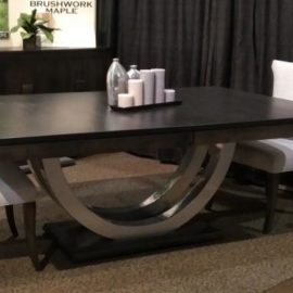 Contempo Metal Curve Pedestal Table