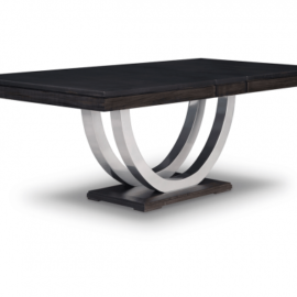 Contempo Metal Curve Dining Table (Pedestal)