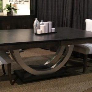 Contempo Metal Curve Pedestal Table