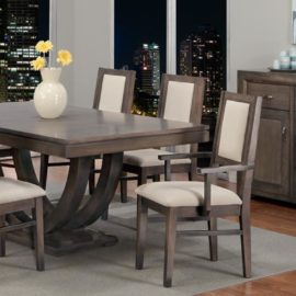 Contempo Pedestal Table Dining Set