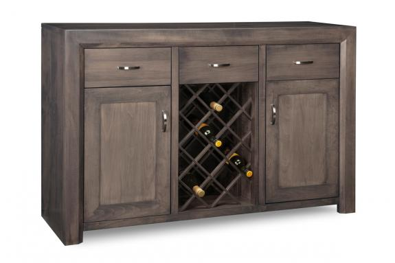 Contempo Sideboard With Wine Rack Contemporary Sideboards