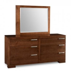 Cordova 6-Drawer Long Dresser & Mirror