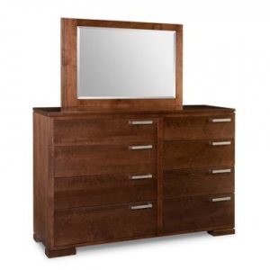 Cordova 8-Drawer High Dresser & Mirror