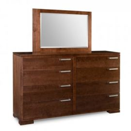 Cordova 8-Drawer Long High Dresser & Mirror