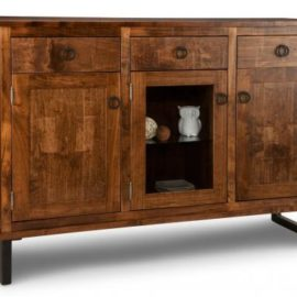 Cumberland 3-Drawer 3-Door Sideboard with Centre Glass Door