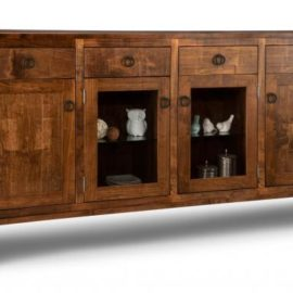 Cumberland 4-Drawer 4-Door Sideboard with 2-Centre Glass Doors