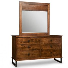 Cumberland 6-Drawer Dresser & Wood Panel Mirror