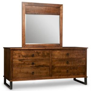 Cumberland 6-Drawer Long Dresser & Wood Panel Mirror