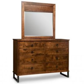 Cumberland 8-Drawer High Dresser & Wood Panel Mirror