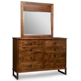 Cumberland 8-Drawer High Dresser & Wood Panel Mirror
