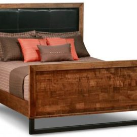 Cumberland Bed with Leather Headboard and High Footboard (Queen)