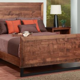Cumberland Bed with Wood Headboard and High Footboard