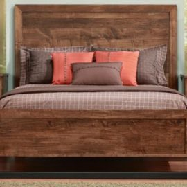 Cumberland Bed with Wood Headboard and Low Footboard