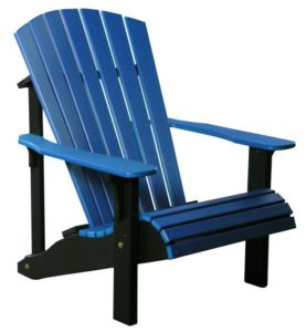 Deluxe Adirondack Chair - Blue/Black