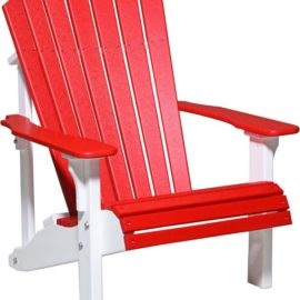 Deluxe Adirondack Chair - Red/White