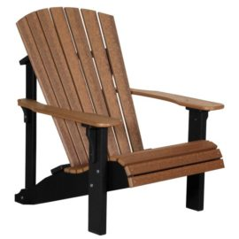 Deluxe Adirondack Chair - Antique Mahogany & Black