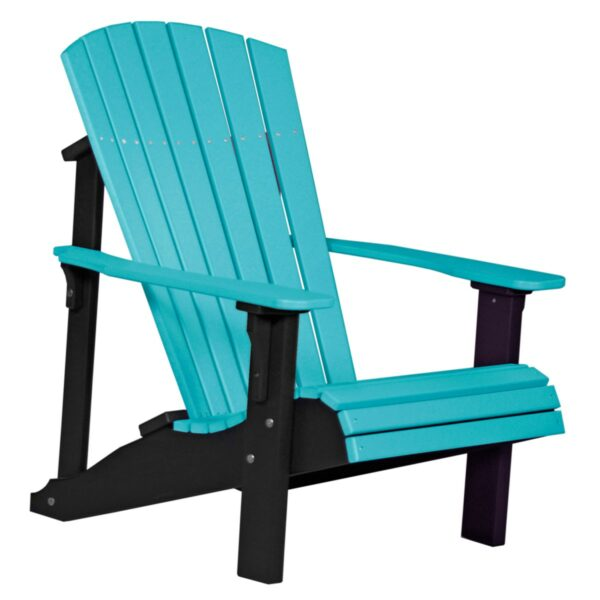 Deluxe Adirondack Chair - Aruba Blue & Black