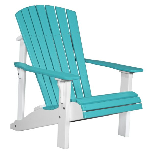 Deluxe Adirondack Chair - Aruba Blue & White