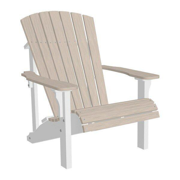 Deluxe Adirondack Chair - Birch & White